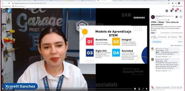STEM + MAKER La experiencia de nuestra coordinadora STEM para Solve for Tomorrow de Samsung